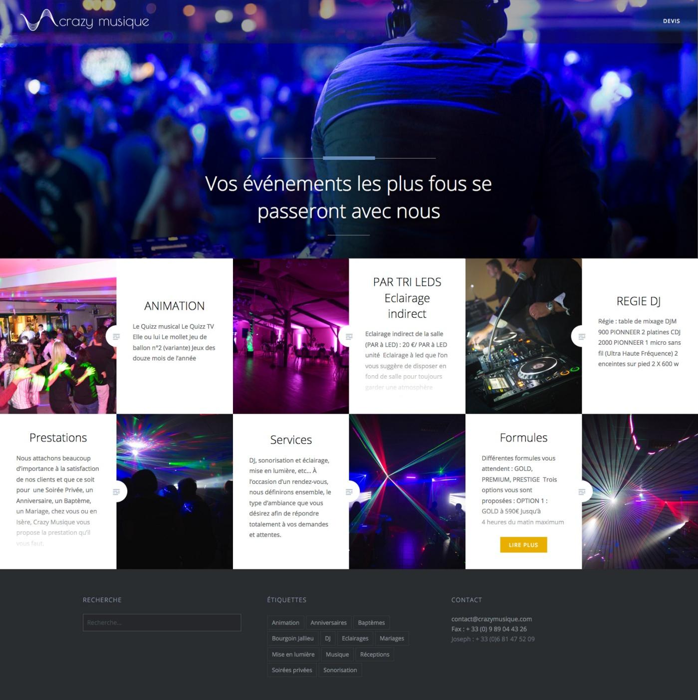 Logo et site Crazymusique